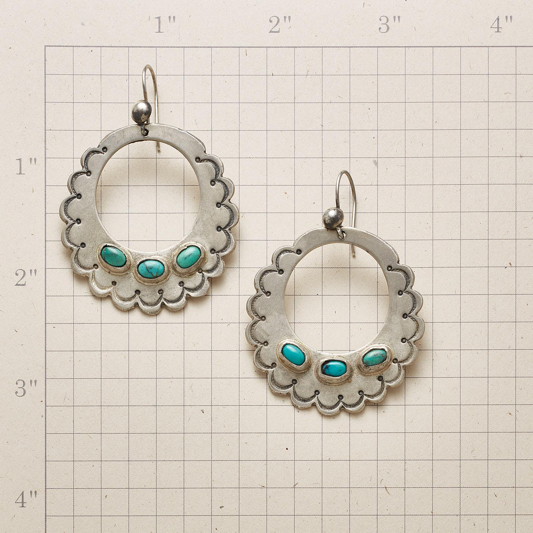 SCALLOPED STERLING EARRINGS: View 2