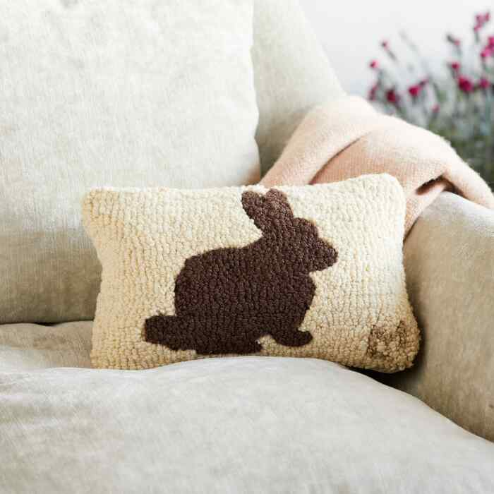 CHOCOLATE BUNNY MINI PILLOW