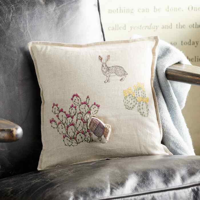SAGUARO ARMADILLO POCKET PILLOW