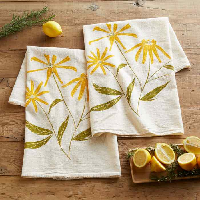 FLOWER SACK TEA TOWELS, SET OF 2