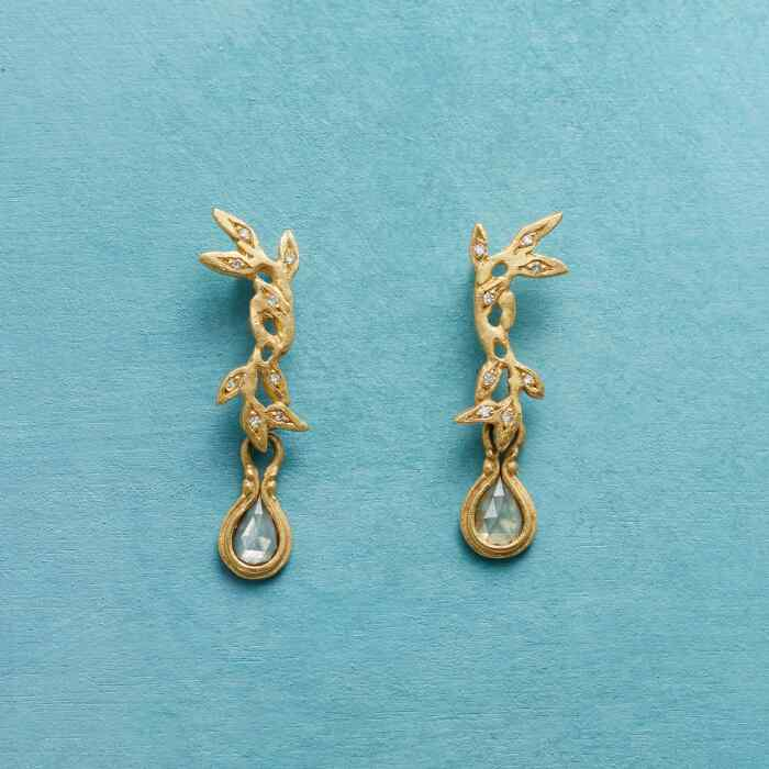 DIAMOND VINE EARRINGS