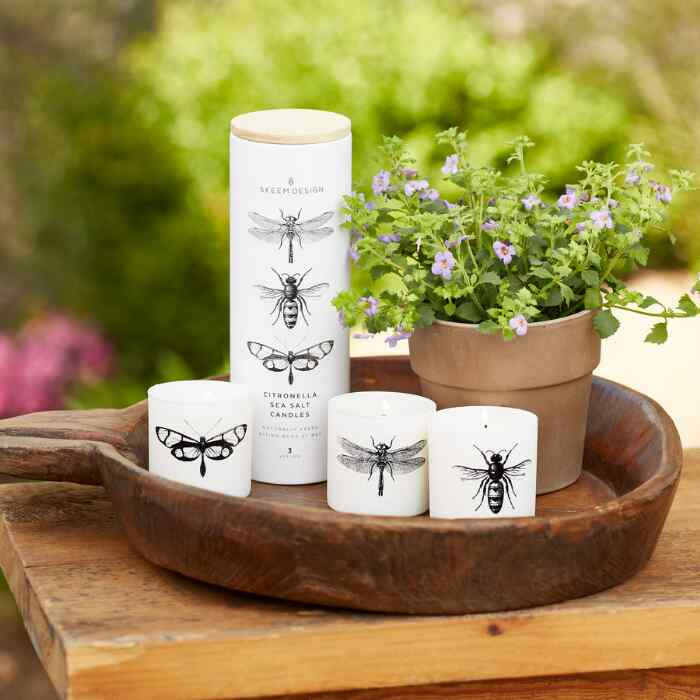 CITRONELLA SEA SALT VOTIVE CANDLES