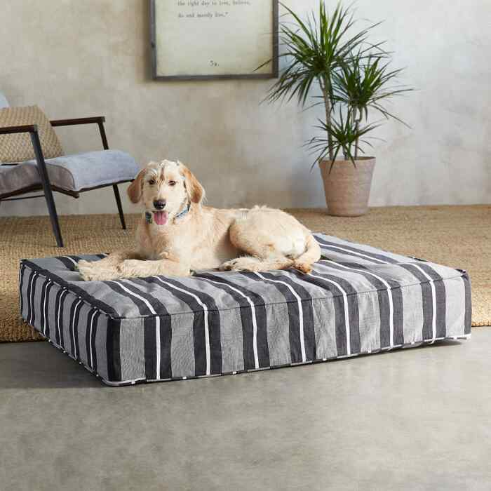 Berkeley Stripe Dog Bed, Large