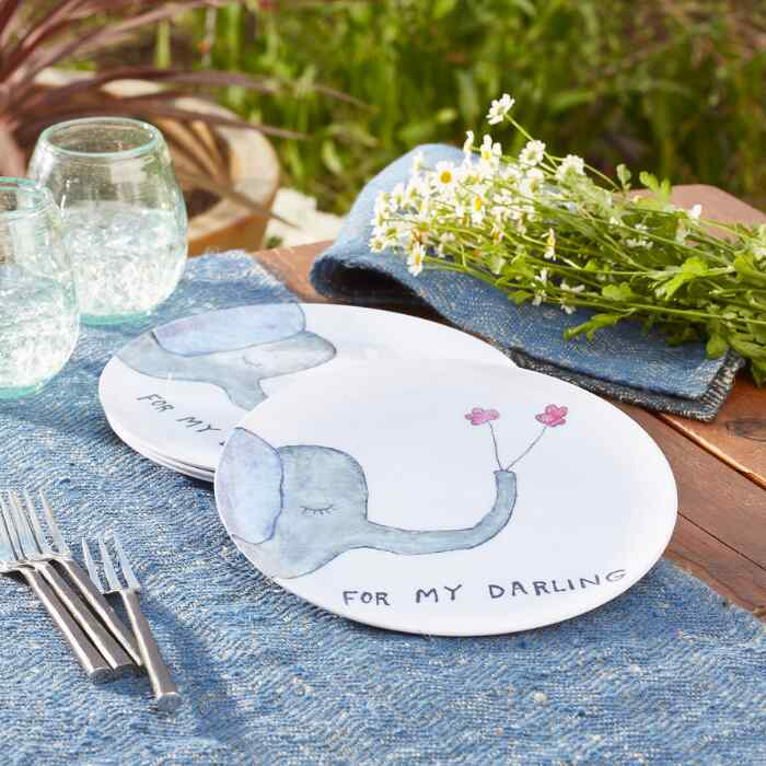 FOR MY DARLING PLATES, SET OF 4