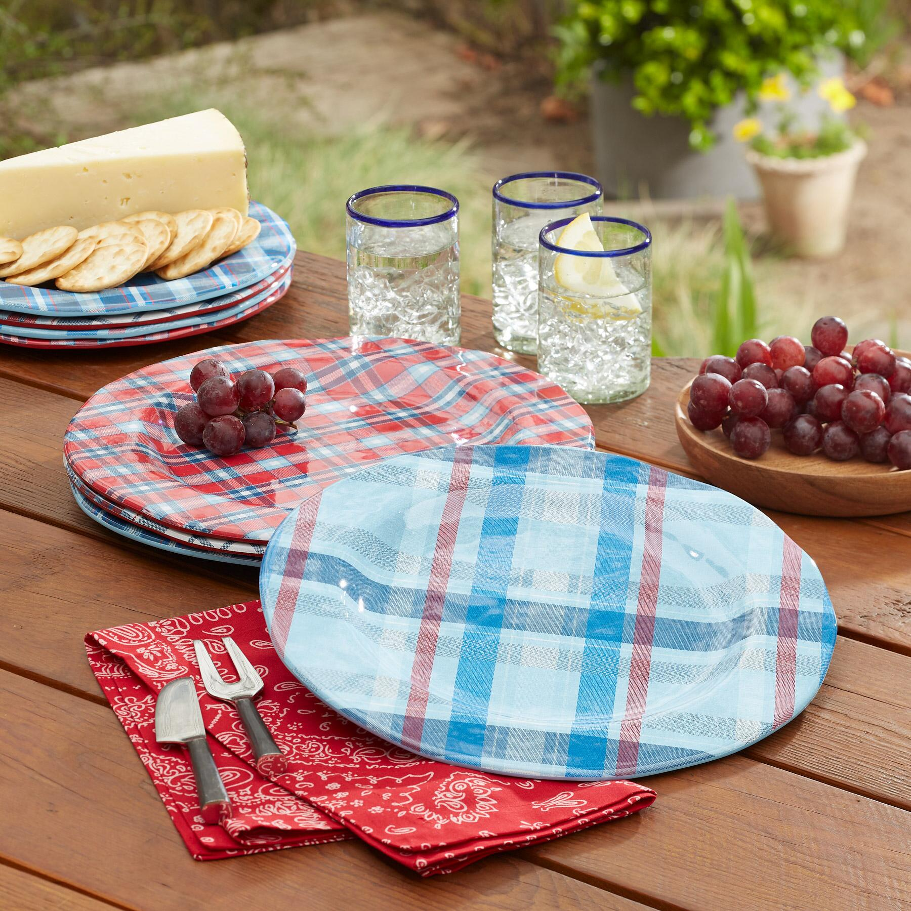 AMERICANA PLAID DINNER PLATES, SET OF 4: View 1