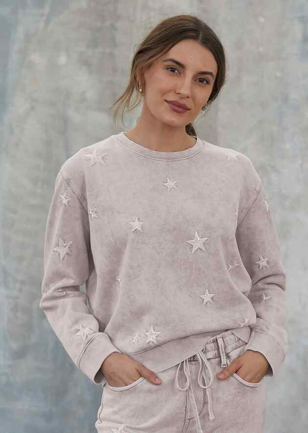 MARBLED STAR SWEATSHIRT