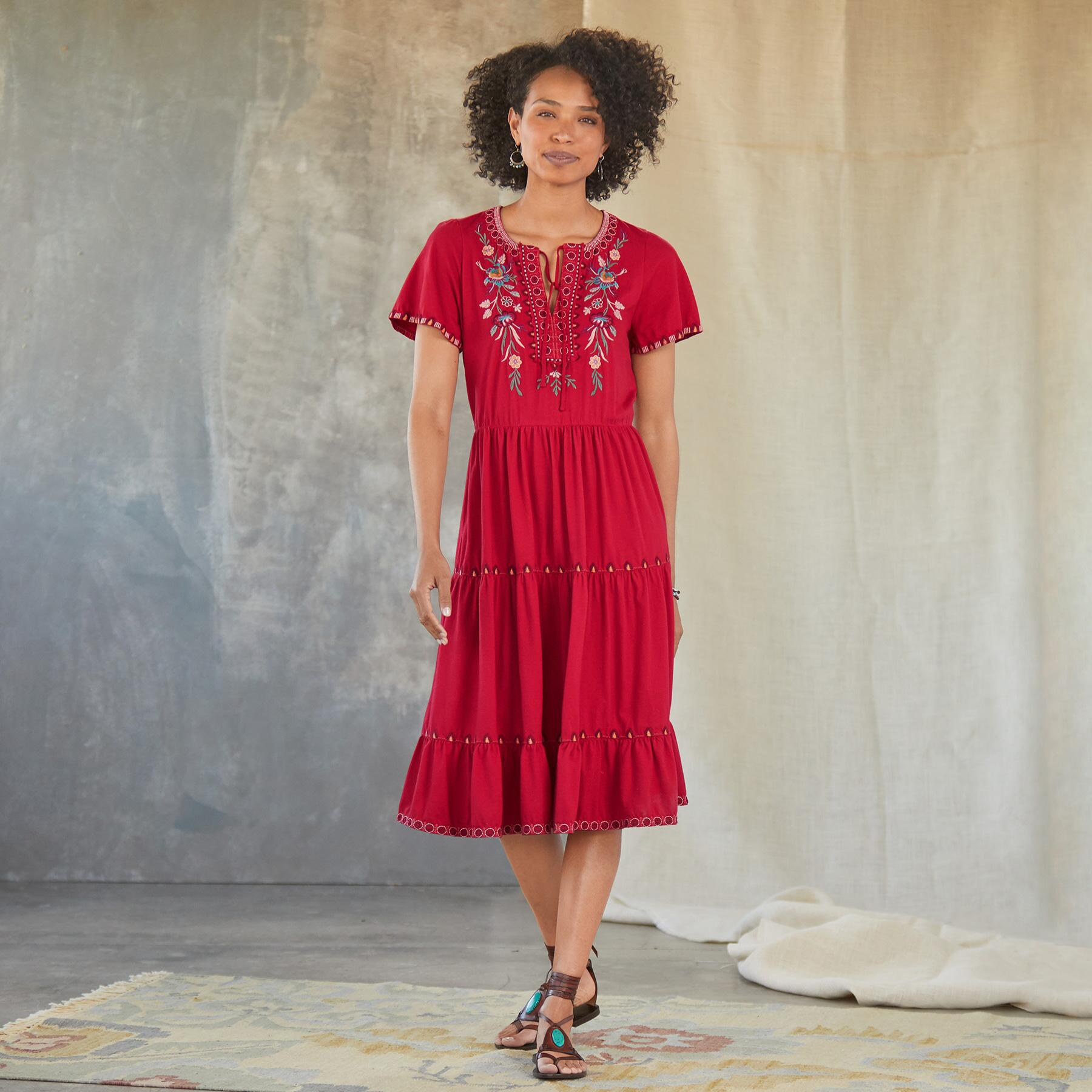 NYA TIERED KNIT DRESS: View 1