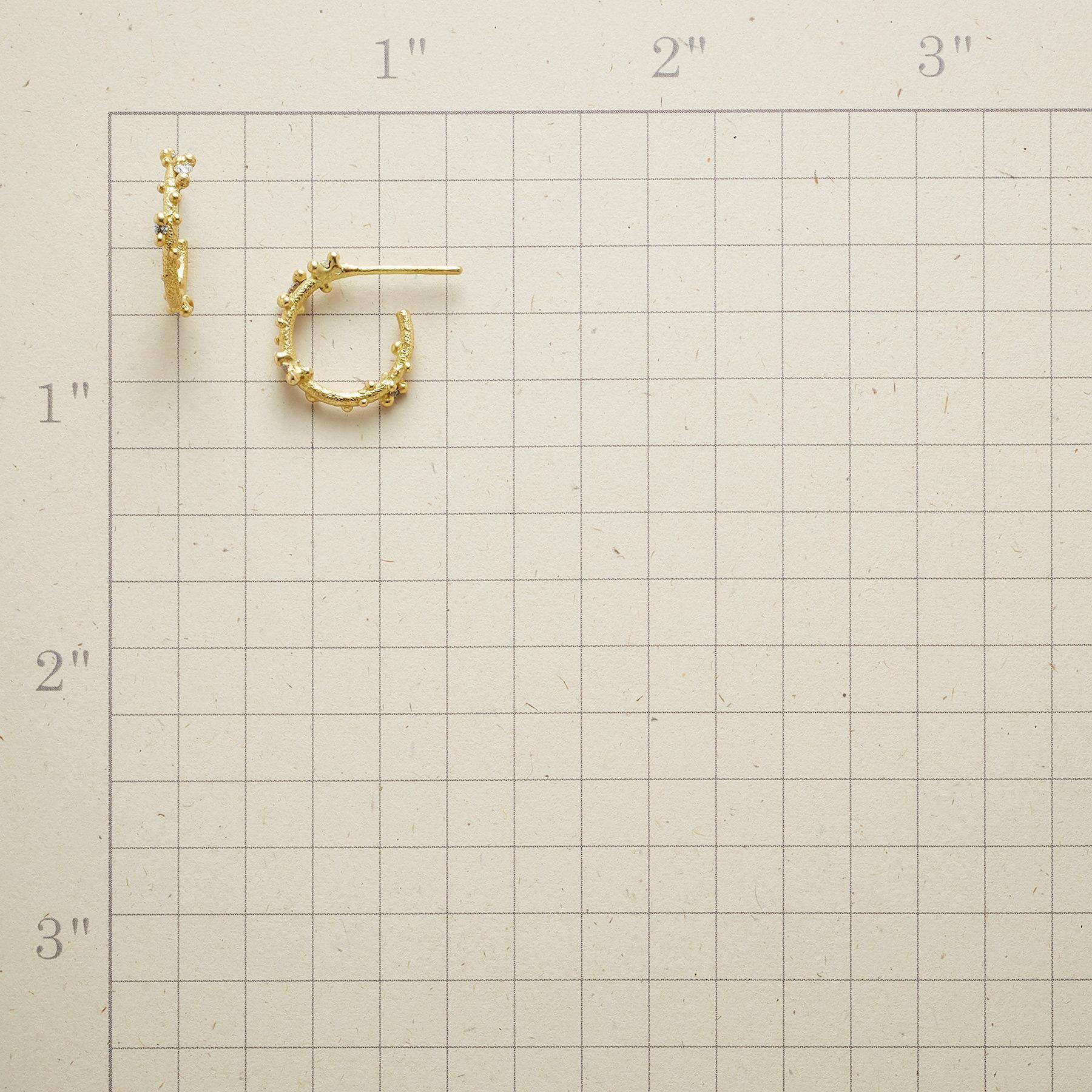 DIAMOND WILLOW HOOP EARRINGS: View 2