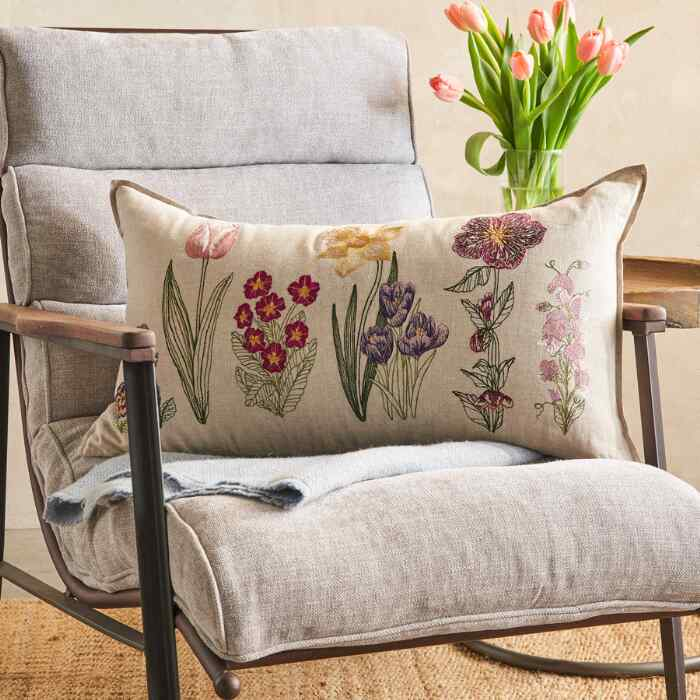 SPRING BLOOMS PILLOW