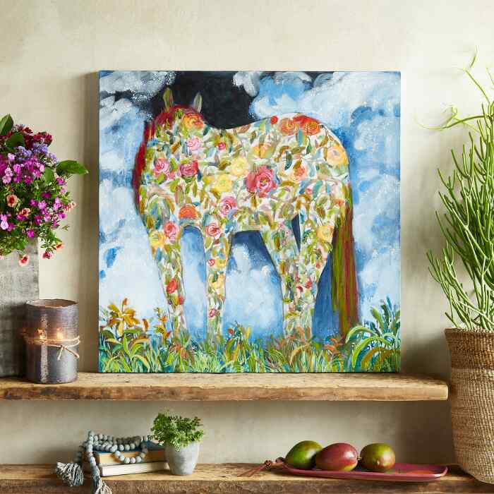 FLORAL HORSE PAINTING